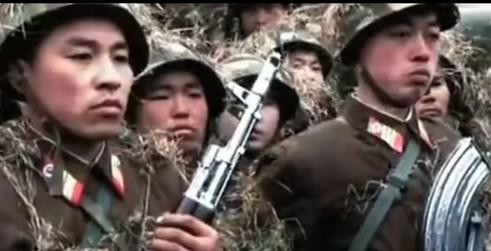朝鲜军事训练纪录片配音